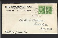 ROANOKE, ILLINOIS 1931 COVER TO NEW YORK, ADVT  THE ROANOKE POST.