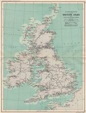 BRITISH ISLES lighthouses, canals & navigable rivers. BARTHOLOMEW 1904 old map