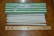 Vintage box of Colonial Twist-Slims taper candles - 6 only - off white.