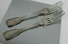(2) Rare S Kirk Maryland assay Coin Silver Forks 1823 - 8-1/2""
