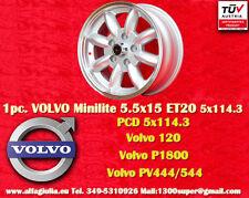 1 Cerchio Volvo 120, P1800, PV444/544 5.5x15 5x114.3  1 Wheel Felge Llanta Jante