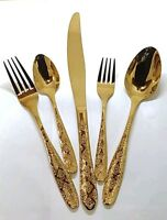 Kitchen Series 30 Piece Glamour Stainless Steel  Cutlery in Gold !