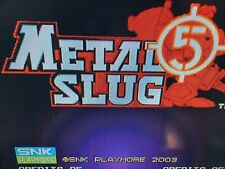metal slug 5 mvs arcade original rom snk neogeo