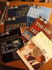 SIX COMPLETE LOOK MAGAZINES RE: PRESIDENT JOHN KENNEDY - MINOR WEAR - P814