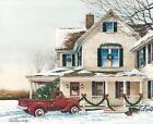 Art Print, Framed or Plaque by John Rossini - Preparing for Christmas - JR354