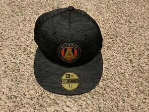 New Era Atlanta United FC 59fifty Black Hat Men's Size 7 1/8