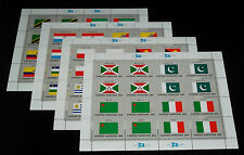 U.N.NEW YORK #440a, 1984, FLAG SERIES SET OF 4 PANES OF 16, MNH,  NICE!! LQQK!!!