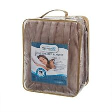 Luxury Heated Electric Micro Fleece Blanket by Beauty Rest- Queen (Brand New)