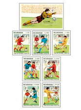 NIC9004 Football  block and 7 stamps