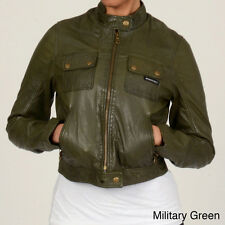 NWT Olive Army Green MEMBERS ONLY Leather Aviator Bomber Flight Jacket M $348