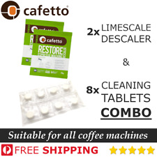 Coffee Limescale Cleaning Tablets & Descaler Satchets (Breville,Sunbeam,Espresso