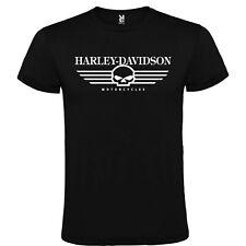 CAMISETA NEGRA Harley Davidson MOTORCYCLES HOMBRE S M L XL XXL XXXL 100% ALGODÓN