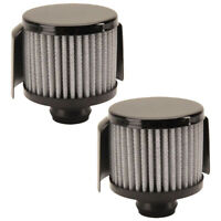 Black Push-In Valve Cover Breather with Shield 2 PK