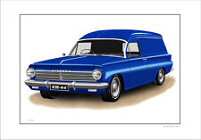 EH HOLDEN PANEL VAN LIMITED EDITION  CAR DRAWING PRINT  ( 8 CAR COLOURS)