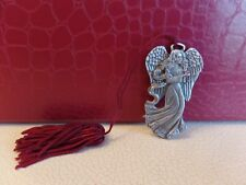 Small pewter Figure Angel holding woman with crystal ball/rhinestone