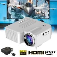 Mini LCD LED Projector Home Multimedia Theater Cinema 1080P HDMI SD USB VGA AV
