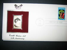 1984 CREDIT UNION ACT 50th Anniversary 22kt Gold GOLDEN Cover Replica Stamp