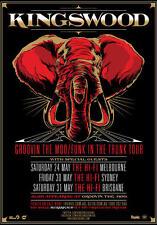 KINGSWOOD 2014 Australian Tour Poster A2 Suckerpunch Change Of Heart Ohio *NEW*