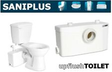 Saniflo SaniPLUS | Macerating Upflush Toilet Kit | Pump + Elongated Bowl
