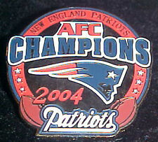 NEW ENGLAND PATRIOTS 2004 AFC CONFERENCE CHAMPS Comm Series Pin Willabee & Ward