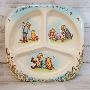 WINNIE THE POOH Disney Vintage Child's Toddler Divided Plate SELANDIA Melamine