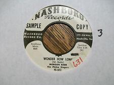 MORGAN BABB Dedication to Mothers/Wonder How Long NASHBORO 603 VG++ Vinyl