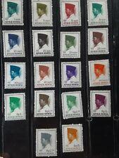 1966 Indonesia, Republic of Indonesia, President Sukarno. Scott 557-574 MH
