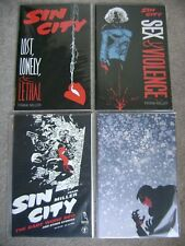Sin City Lot Of 4 Babe Wore Red Silent Night #1'S One Shot Dark Horse Comics