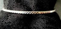 ARMREIF STERLING SILBER 925/f.  GEDREHTE FORM Durchmesser ca. 6,4 cm ~ 12 Gramm