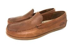 EUC Fossil Leather Sport Loafers For Men Brown Size 9 Nice'
