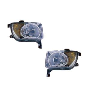 Headlights Front Lamps Pair Set for 03-06 Honda Element Left & Right