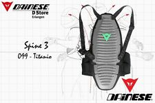 NEW DAINESE SPINE 3 BACK PROTECTOR TITANIUM SIZE L