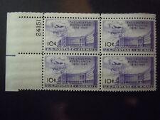 "1949 #C42 10c Postal Union Plate Block  MNH OG ""Includes New Mount"""