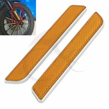 Left&Right Front Fork Leg Reflectors For Harley Dyna Fatboy Softail Lower Slider