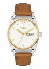 Nixon Jane Leather Watch (Silver / Gold / White)