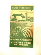 Circa 1936  Firestone rubber advertising Farm Note Book - Harrisburg, PA office