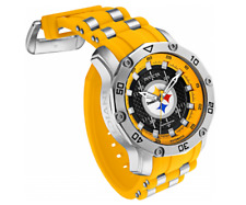 Invicta Men 50mm Automatic NFL OFFICIAL Pittsburgh Steelers Silicone Strap Watch