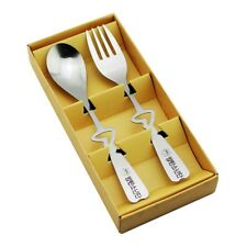 2x Pop BTS Cartoon Stainless Steel Dinner Fork Spoon Set Flatware Suit Adult