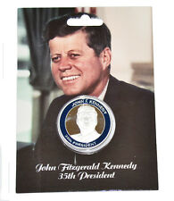 John F Kennedy JFK United States President Collectors Coin On Information Card