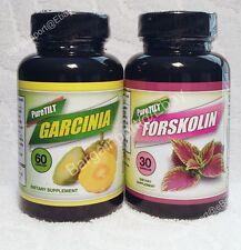 PureTILT Brand Garcinia Cambogia & Forskolin ~ Slimming Diet Duo ~ NEW Pure Tilt