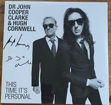 Dr JOHN COOPER CLARKE & HUGH CORNWELL THIS TIME ITS PERSONAL SIGNED VINYL ALBUM