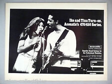 Ike & Tina Turner for Acoustic 470/450 Series Music Sound System PRINT AD - 1974