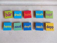"""Werkhaus """"Bayrische Koseschimpfwörter""""Magnete gebraucht"""