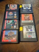 Lot of 7 Sega Genesis Baseball Games, La Russa, Sports Talk, World Series, MLBPA
