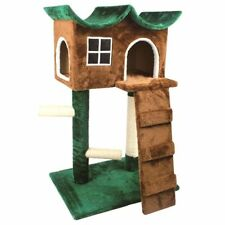 Purrshire Fantastic Dream Cat Condo Tower Activity Sisal Scratch Post Plush