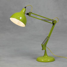 Lime Green Desk Table Lamp Bedside Retro Vintage Angle Large Posable Metal New