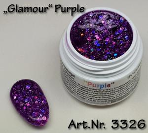 5ml UV Exclusiv Glamour Collection Gel, Farbgel, Farbton Purple, Nr. 3326