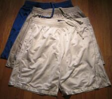 3 Sport Short 100% Polyester 2 pocket Small 3 color Heavy Weight Elastic wht