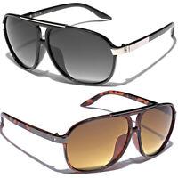 Men Women Retro Vintage 80's Aviator Sunglasses Khan Fashion Designer Glasses