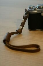 Vintage Brown Leather Hand Wrist strap for photo cameras Sony, Nikon, Canon Fuji